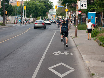 Strong support for bike lanes on major city roads
