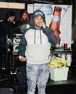 DJ BJ on the mic