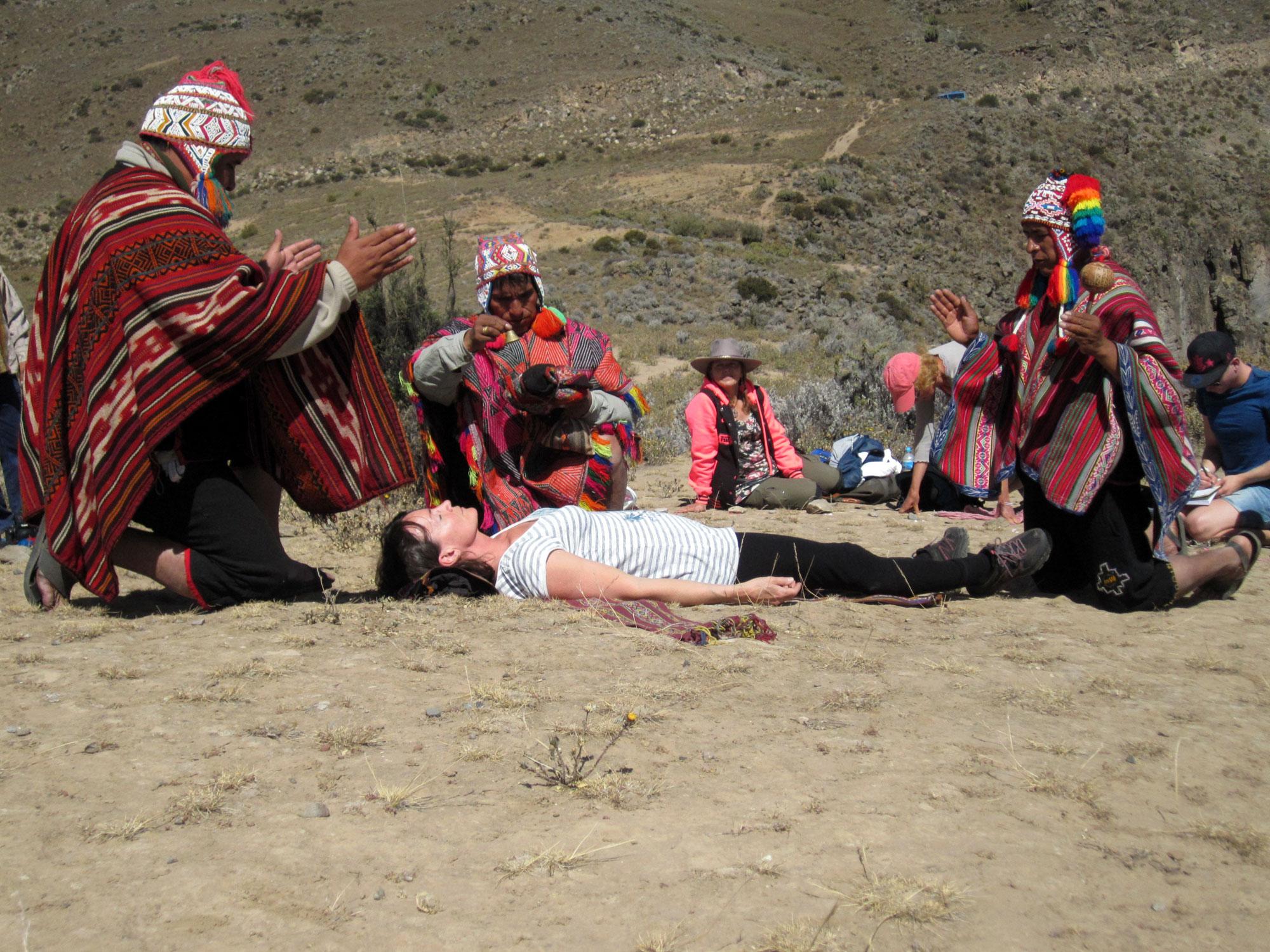 Ceremoni vid Colca Canyon