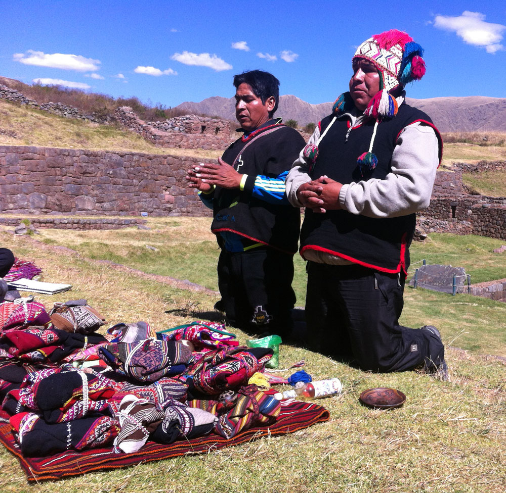 Inka shamaner vid Tipon