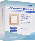 Ultra-Absorbent Silicone Foam Dressing with Adhesive Border