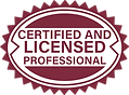 Certified and Licensed Professional badge