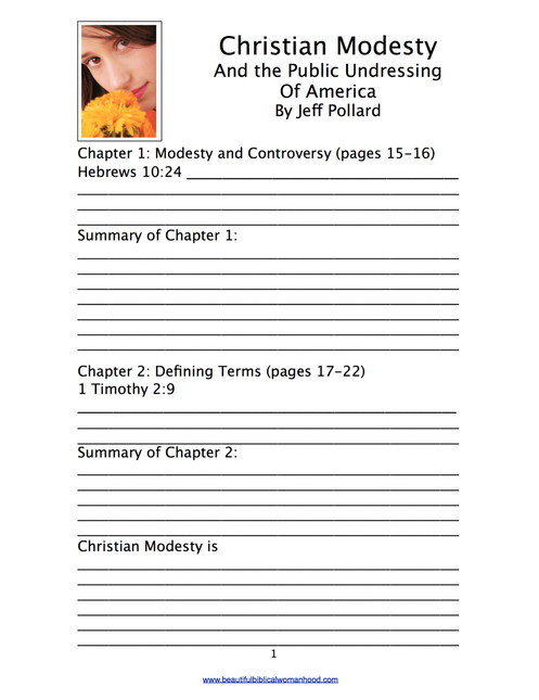 Christian Modesty and the Public Undressing of America Study Guide