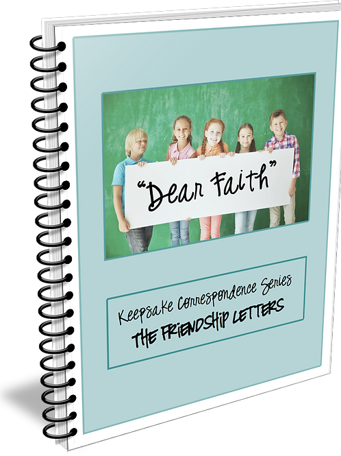 """""""Dear Faith"""" Keepsake Correspondence Series """"Friendship Letters"""""""
