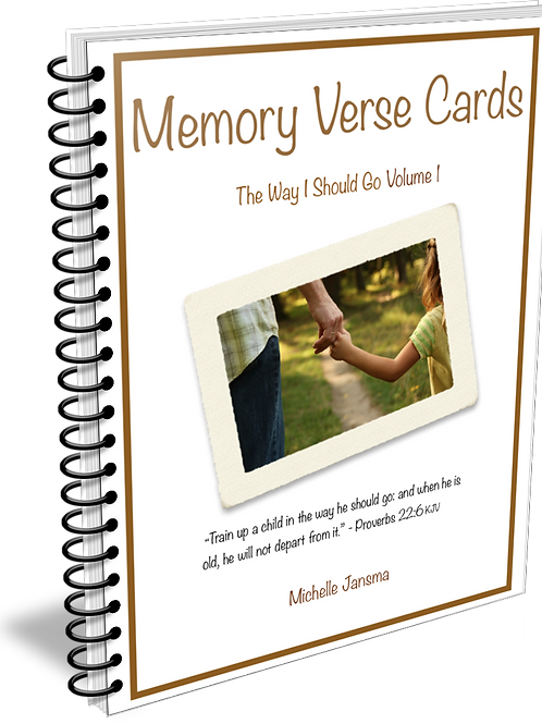 The Way I Should Go Memory Verse Cards - Volume 1