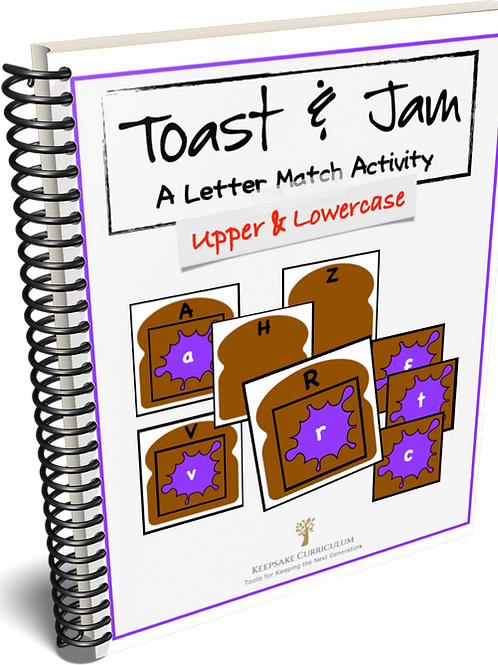 Toast & Jam A Letter Match Activity
