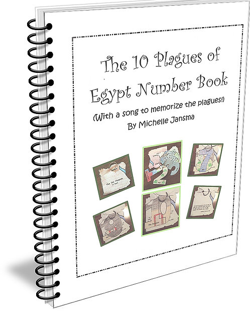 The 10 Plagues of Egypt Number Book