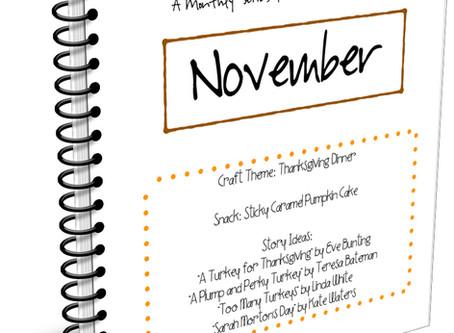 November Crafts 'n Snacks - Thanksgiving Dinner