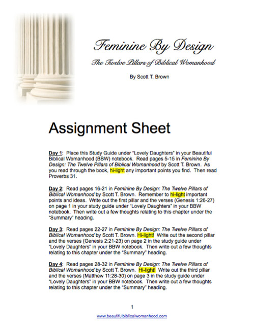 Feminine By Design Study Guide