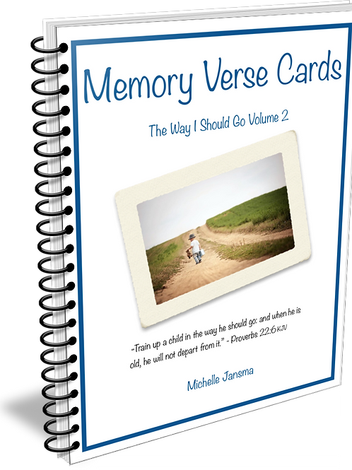 The Way I Should Go Memory Verse Cards - Volume 2
