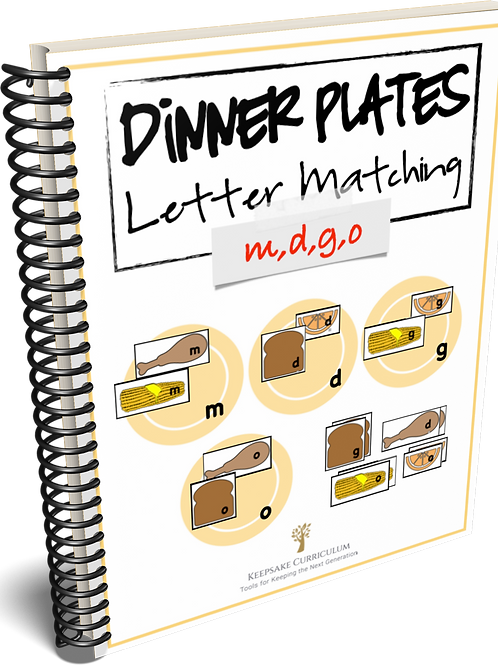 Dinner Plates Letter Match - m,d,g,o