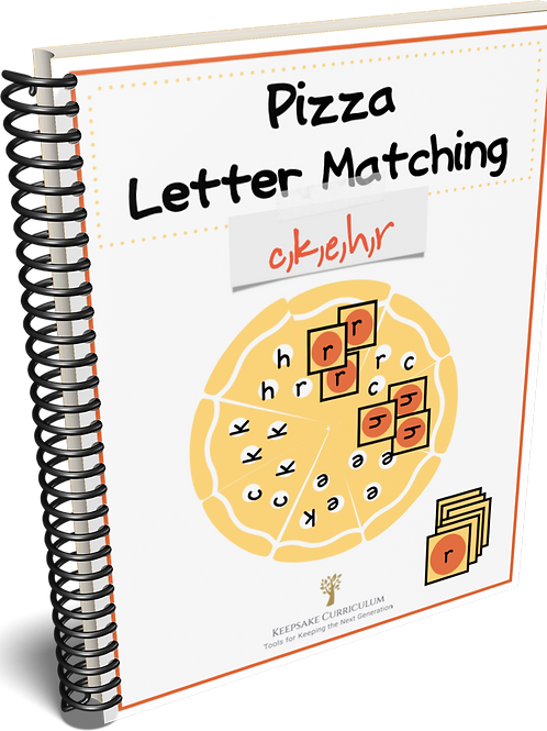 Pizza Letter Match - c,k,e,h,r