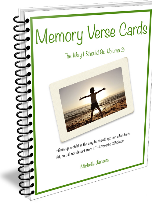 The Way I Should Go Memory Verse Cards - Volume 3
