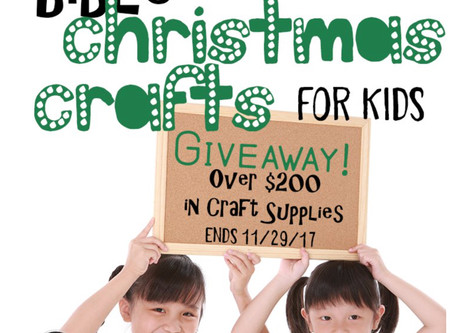 Bible Christmas Crafts for Kids Giveaway
