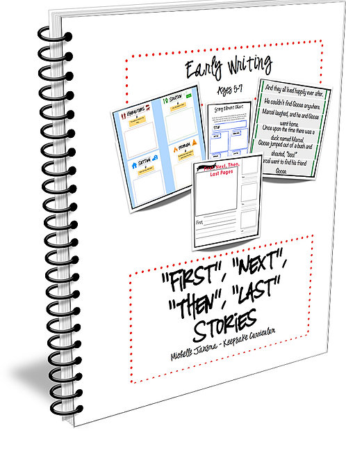 """First"", ""Next"", ""Then"", ""Last""  Writing Unit for Early Writers(Digital Product)"