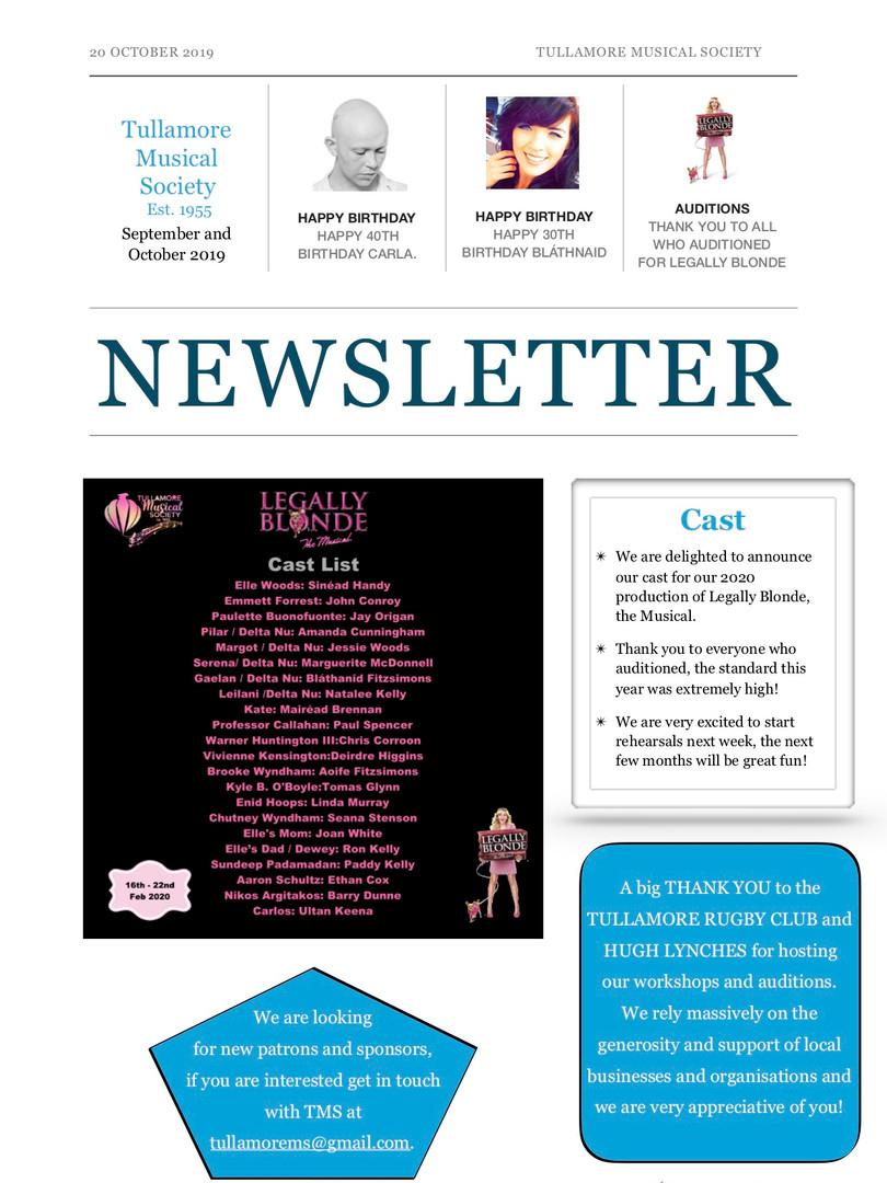 September and October 2019 TMS Newslette