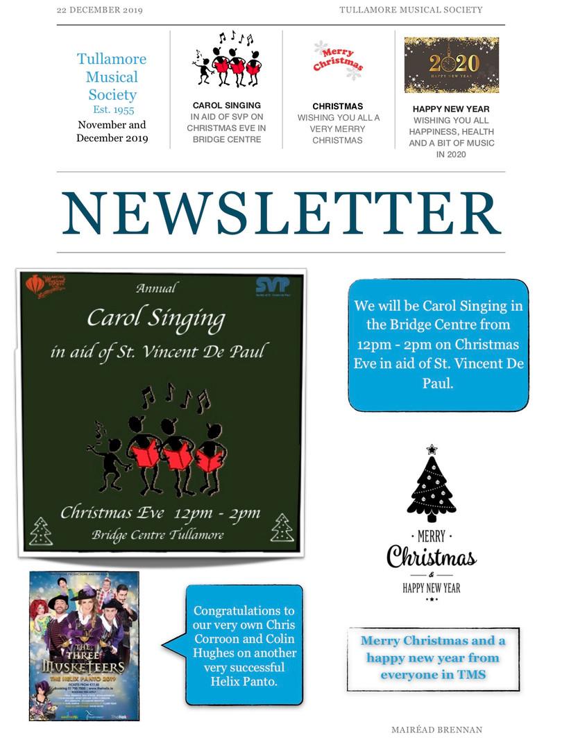 November and December 2019 TMS Newslette
