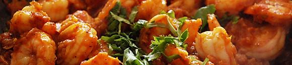 Code di gamberetti e pesce