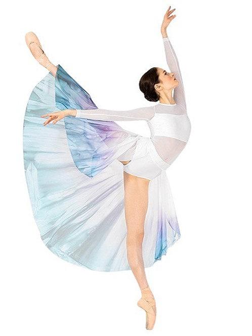 WC7316 - Watercolour Long Sleeve Dress