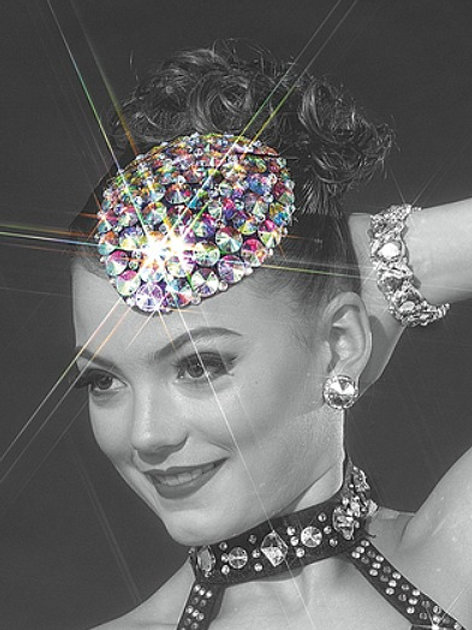 HP2100 - AB Crystal Teardrop Hat