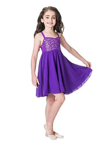 S7D05 - Sequin Lyrical Dress
