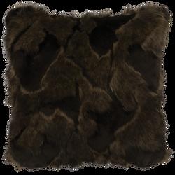 Onyx Marble Fox Faux Fur Pillow