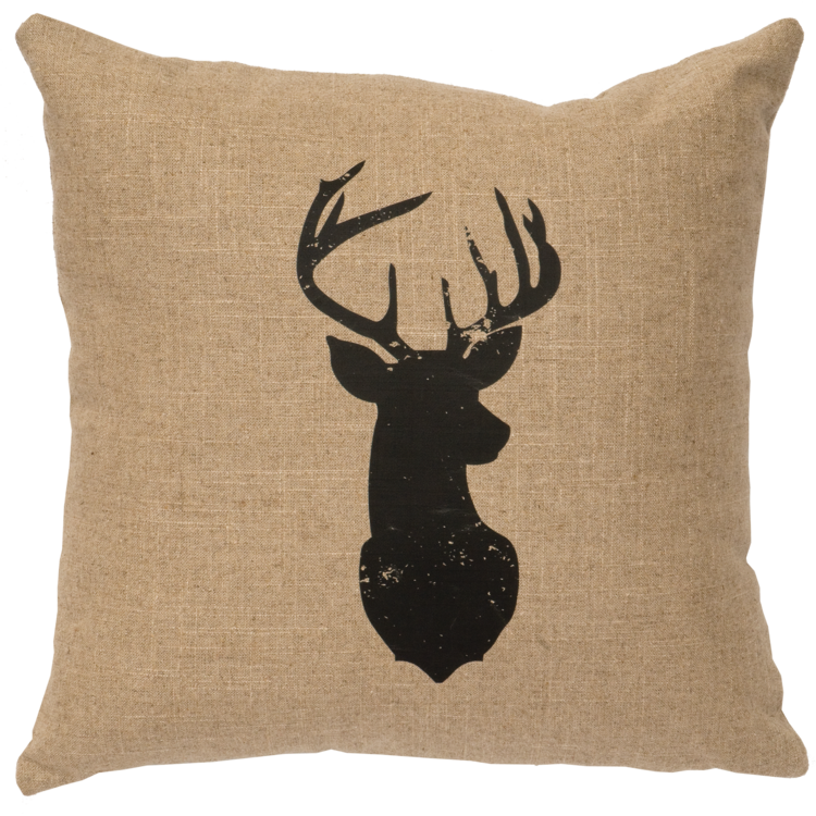 Deer Linen Pillow