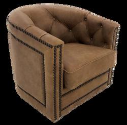 Tufted Barrel Chair