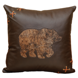 Bear Leather Pillow