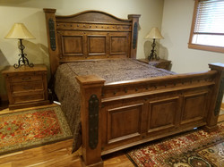Elegant rustic bed with a western feel