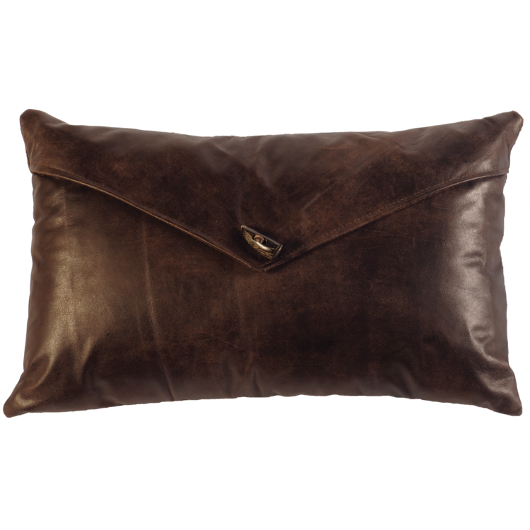 Leather Envelope Pillow