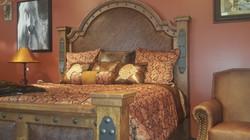 Western rustic elegant bed