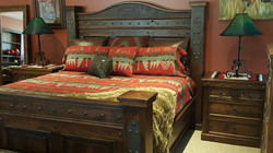 Mountain style bed with western feel