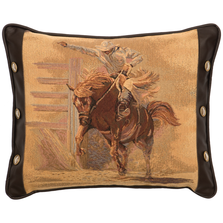 Tombstone Bronco Pillow