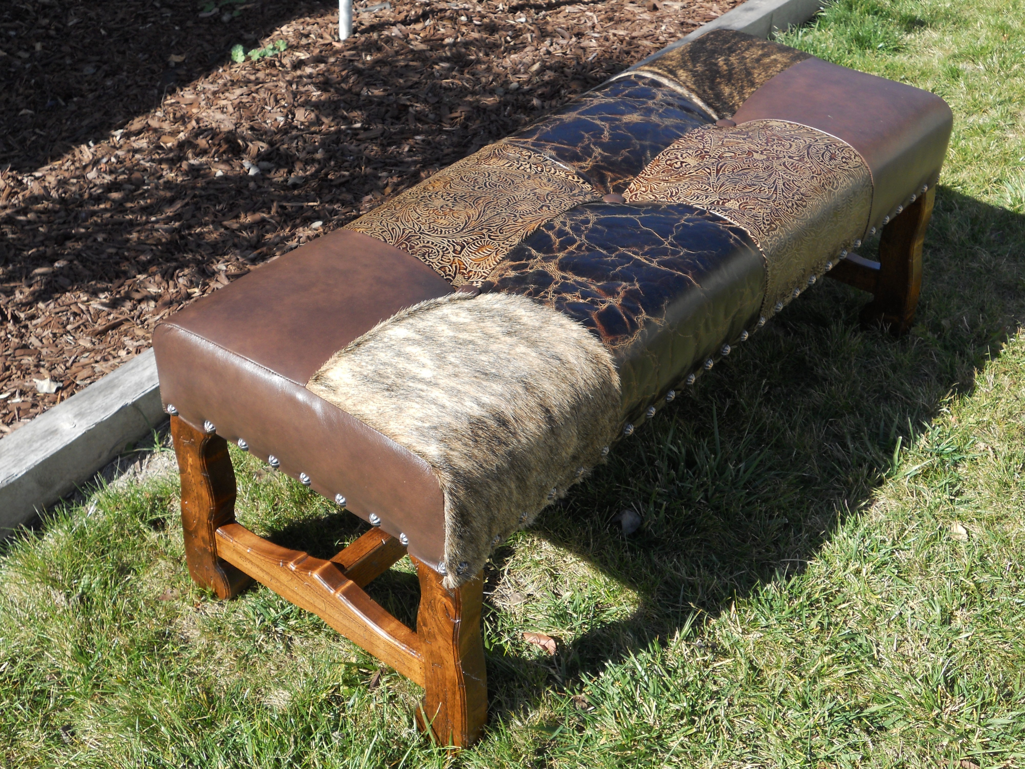 Rocky Top Patchwork Bench