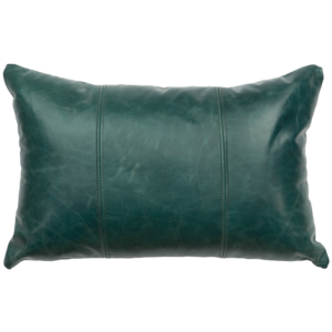 Turquoise Leather Pillow