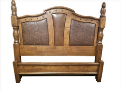 Western bed with rustic elegance