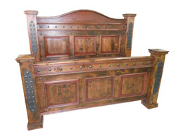 Western style bed that is rustically elegant