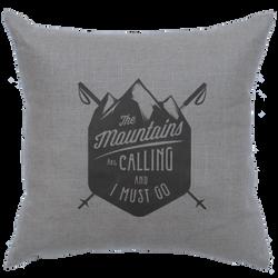 Mountains Calling Linen Pillow