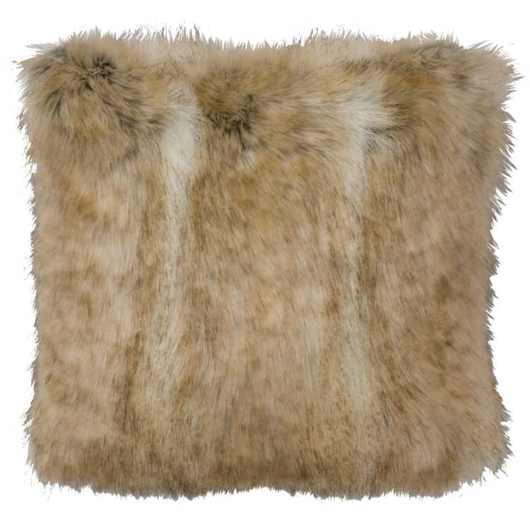 Canadian Stone Fox Faux Fur Pillow