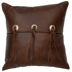 Leather Pillow with ties