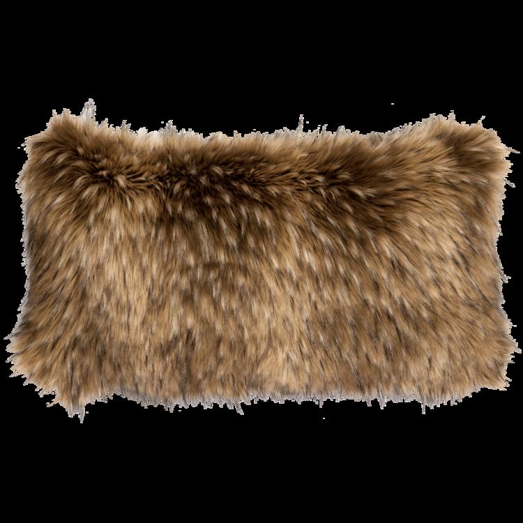 Coyote Faux Fur Pillow