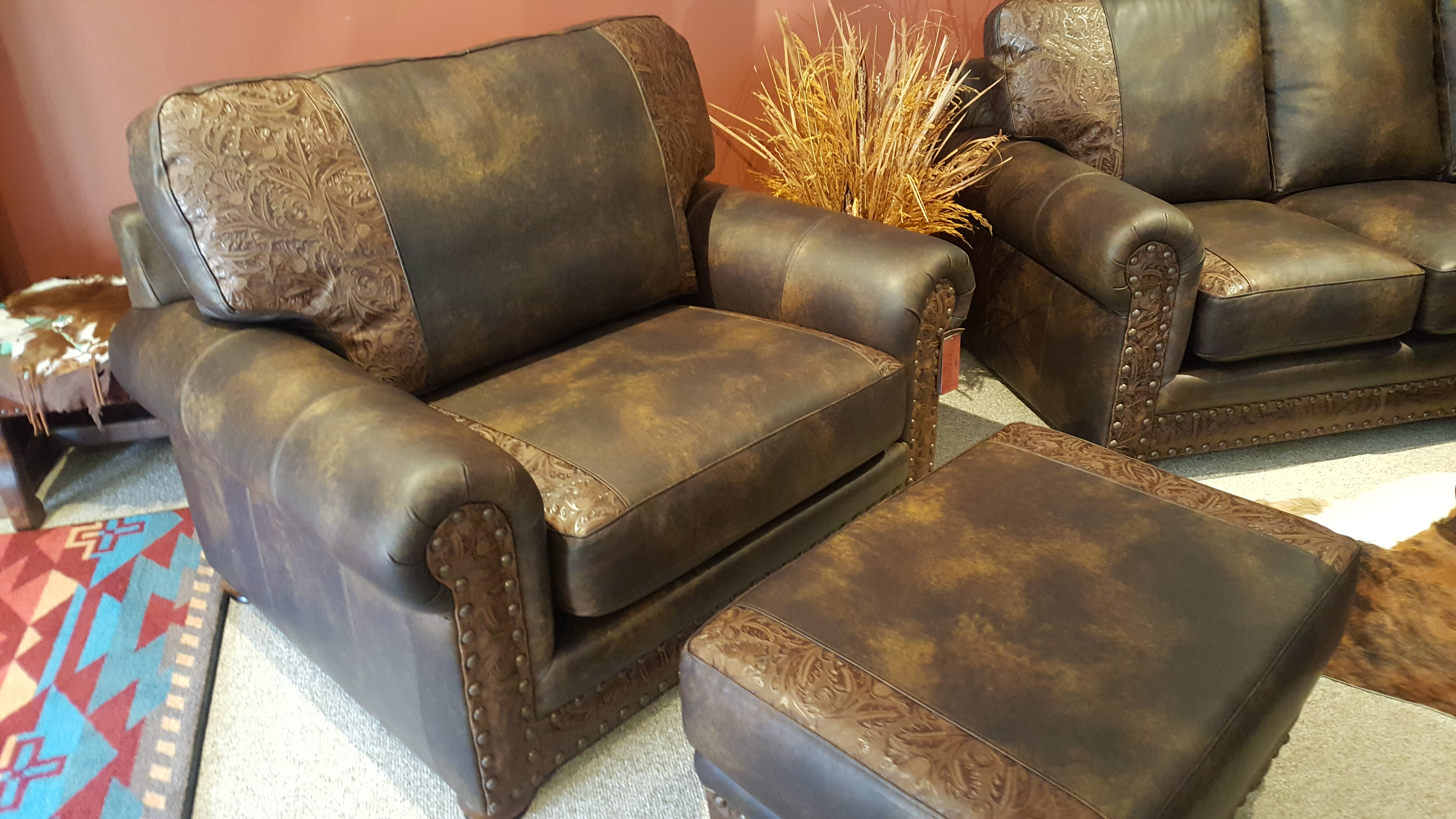 Gunslinger Oversized Chair and Ottoman