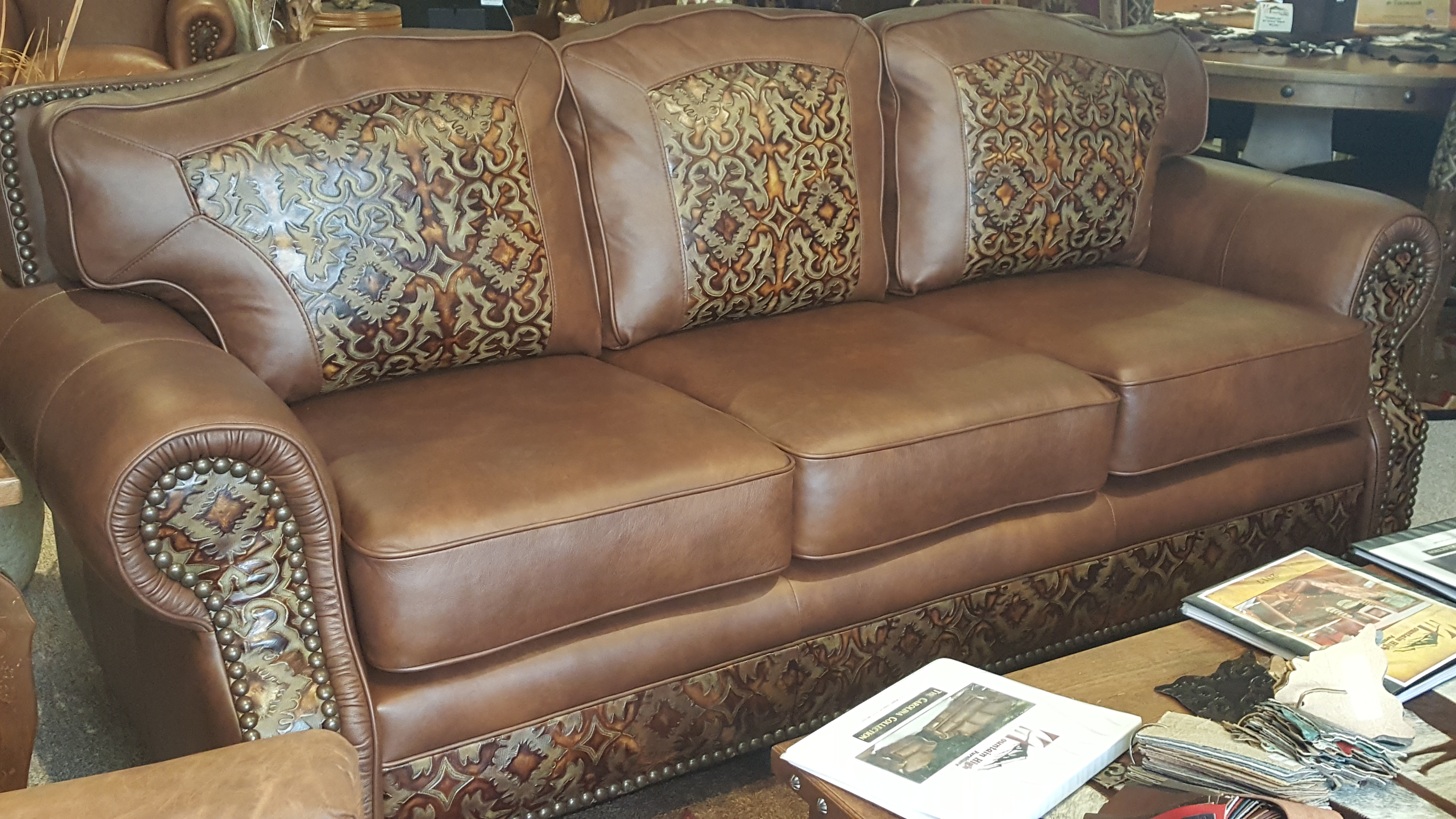 Mountain High Furniture Western Leather Sofa Amp Chairs