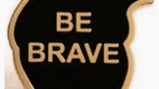 Be Brave Heart Pin