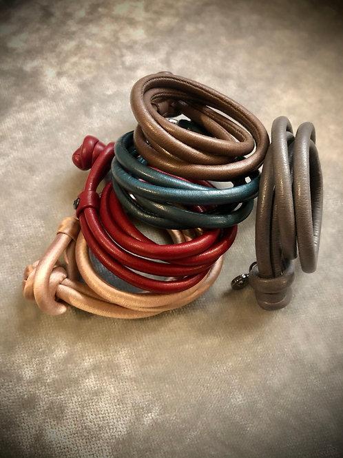 Leder und Seide Bänder - diverse Farben