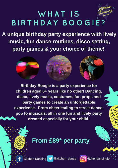 Birthday boogie, dance parties for children based in Beeston, Nottingham. Virtual and online fun!
