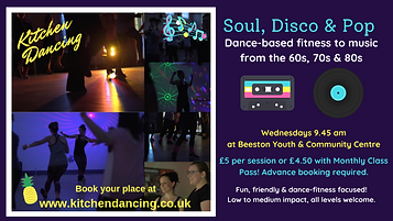 Dance and fitness class times for Beeston, Nottingham. Great for adults, children as well as staff wellbeing activities and virtual online parties.