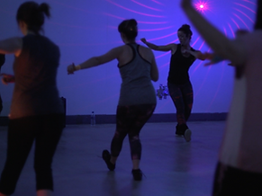 Photo of our virtual dance and fitness classes designed for adults, children, staff wellbeing activities and online parties. Based in Beeston, Nottingham.