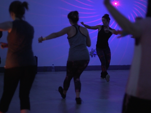 Photo of our virtual dance and fitness classes designed for adults, children. Great for staff wellbeing activities and online parties. Based in Beeston, Nottingham.